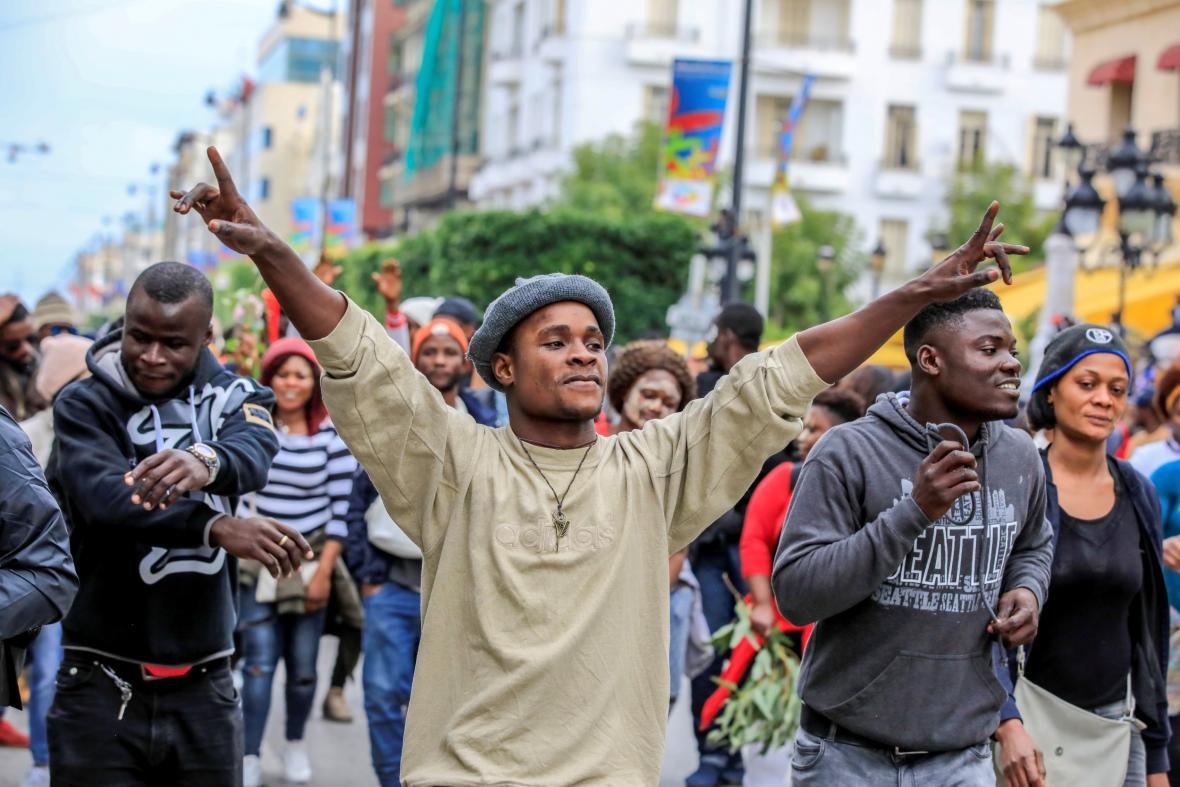 Prosincový protest proti rasismu v Tunisku