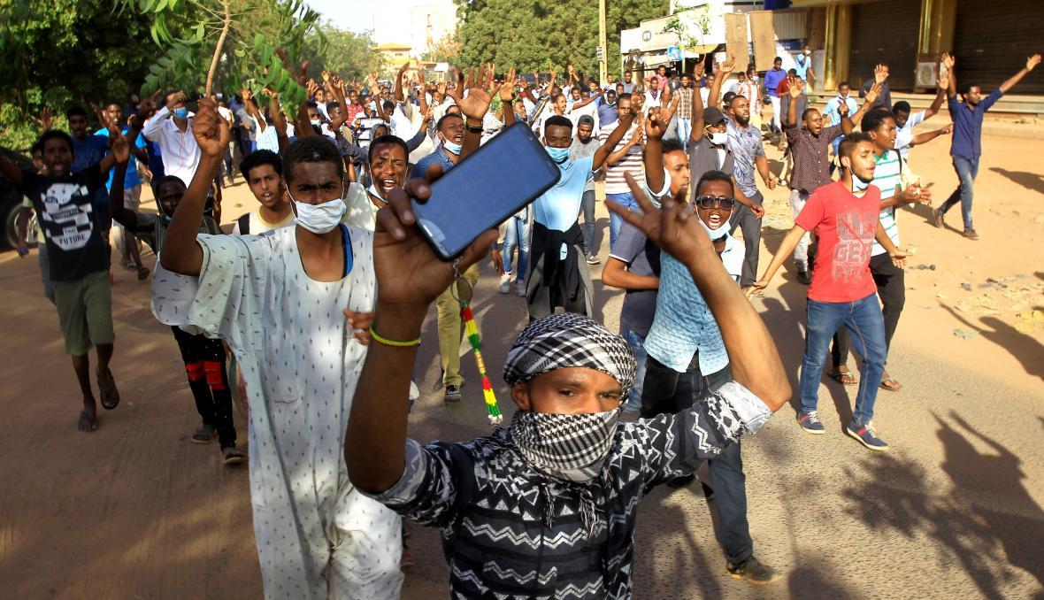 Prosincový protivládní protest v súdánském Chartúmu