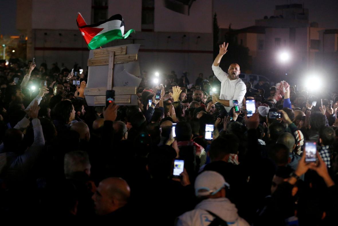 Demonstrace se nevyhnuly ani Jordánsku