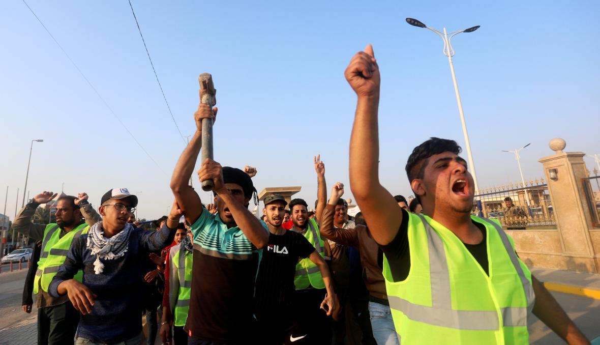 Protivládní demonstrace v Iráku