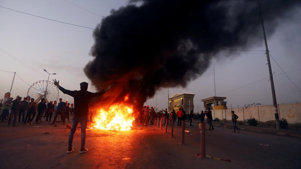 Prosincový protivládní protest v irácké Basře