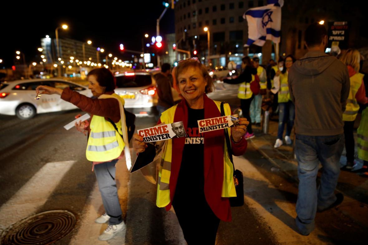 Izraelské protesty inspirované takzvanými žlutými vestami