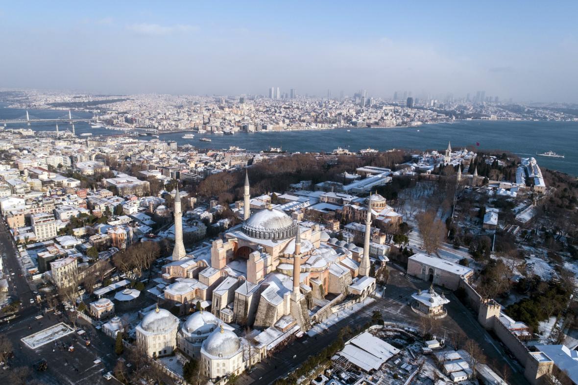 Zasněžený Istanbul