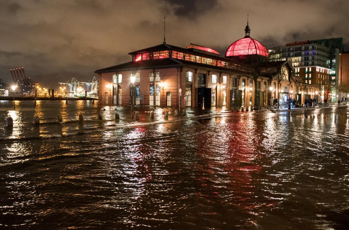 Velká voda v Hamburku