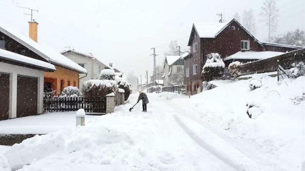 Sněhová kalamita v Krušných horách
