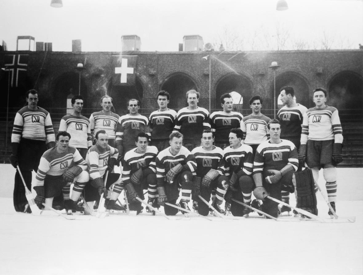 Československý hokejový tým na Mistrovství světa Ve Stockholmu (1949)