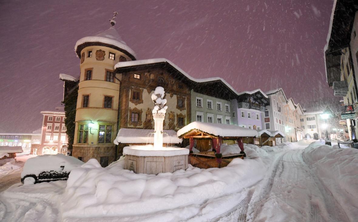 Zasněžený bavorský Berchtesgaden