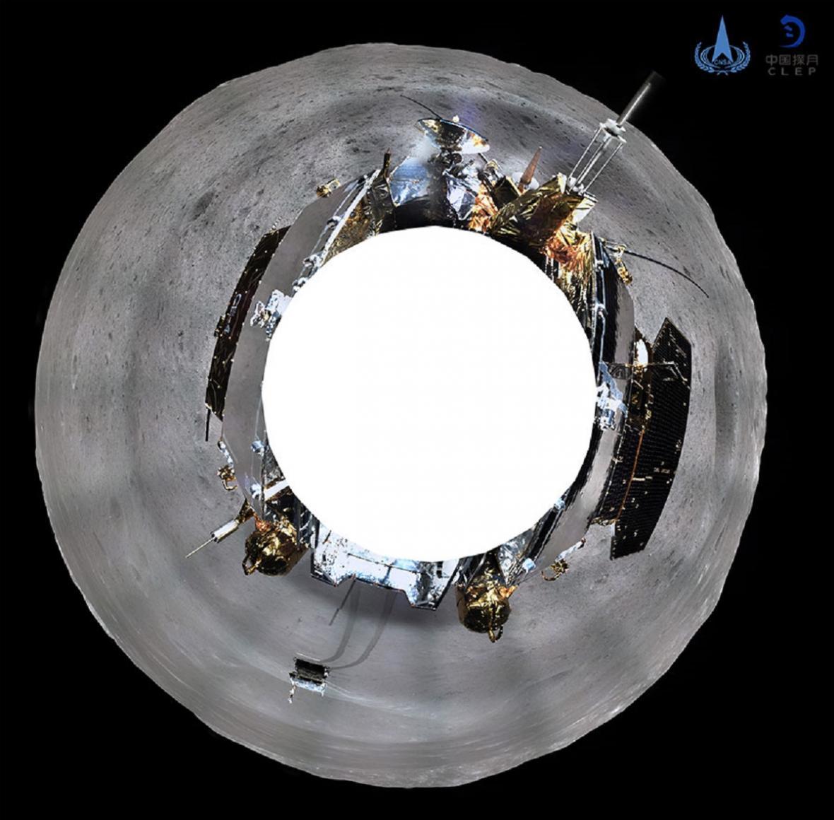 Panoramatický snímek z odvrácené strany Měsíce