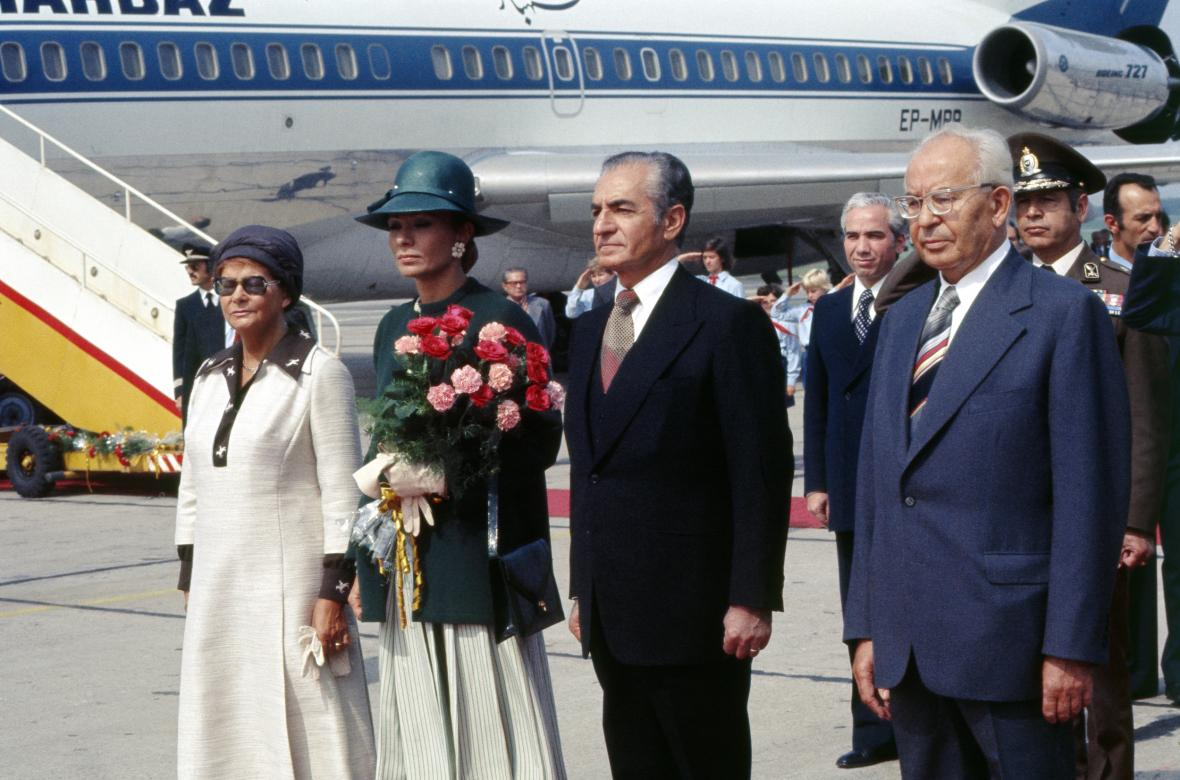 Rezá Pahlaví s manželkou na návštěvě Československa v roce 1977