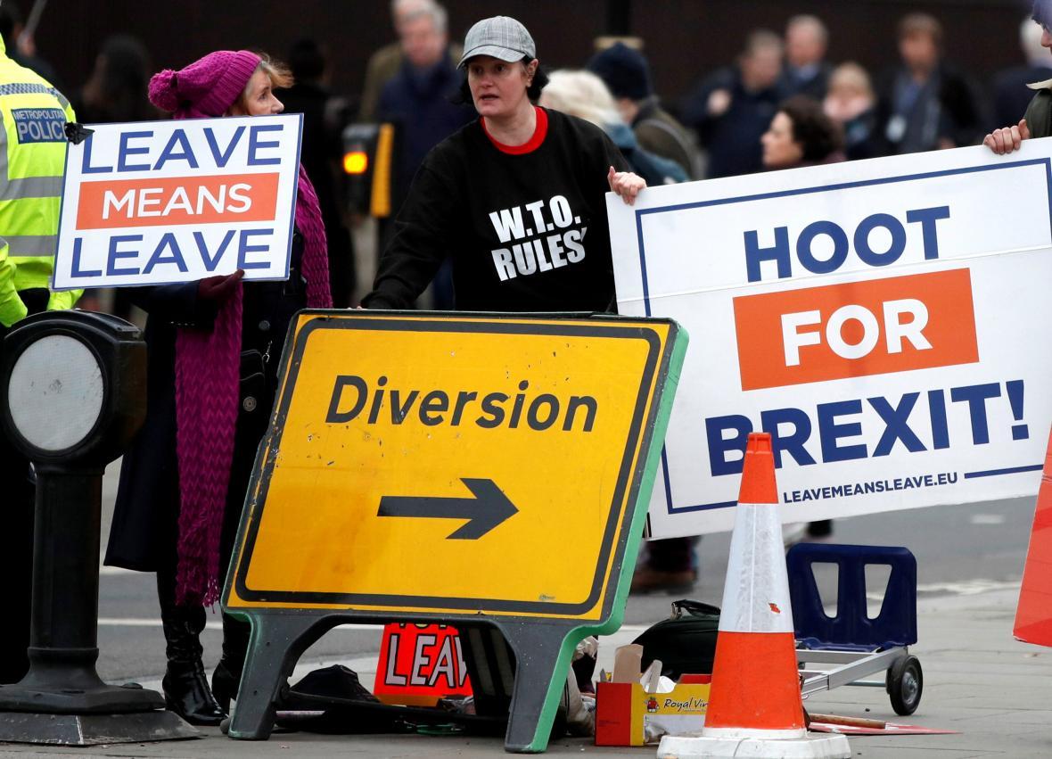 Podpůrci brexitu