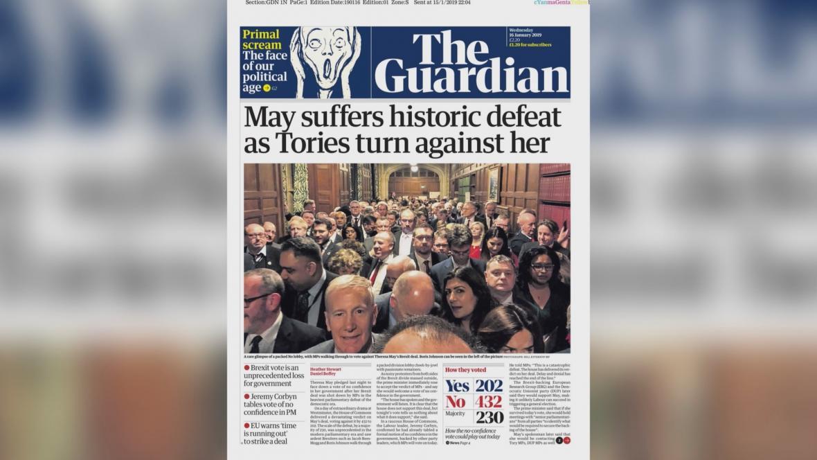 The Guardian: Mayová utrpěla historickou porážku, když se proti ní konzervativci obrátili