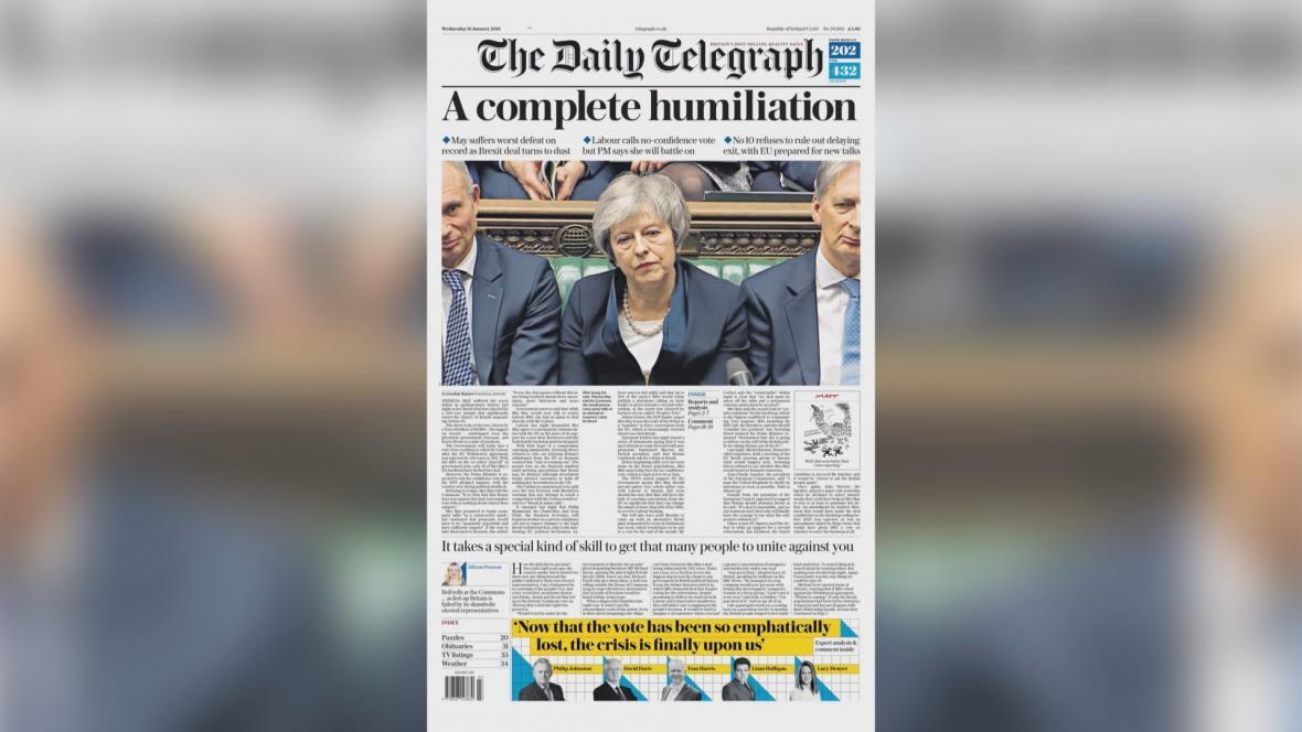 The Daily Telegraph: Naprosté ponížení