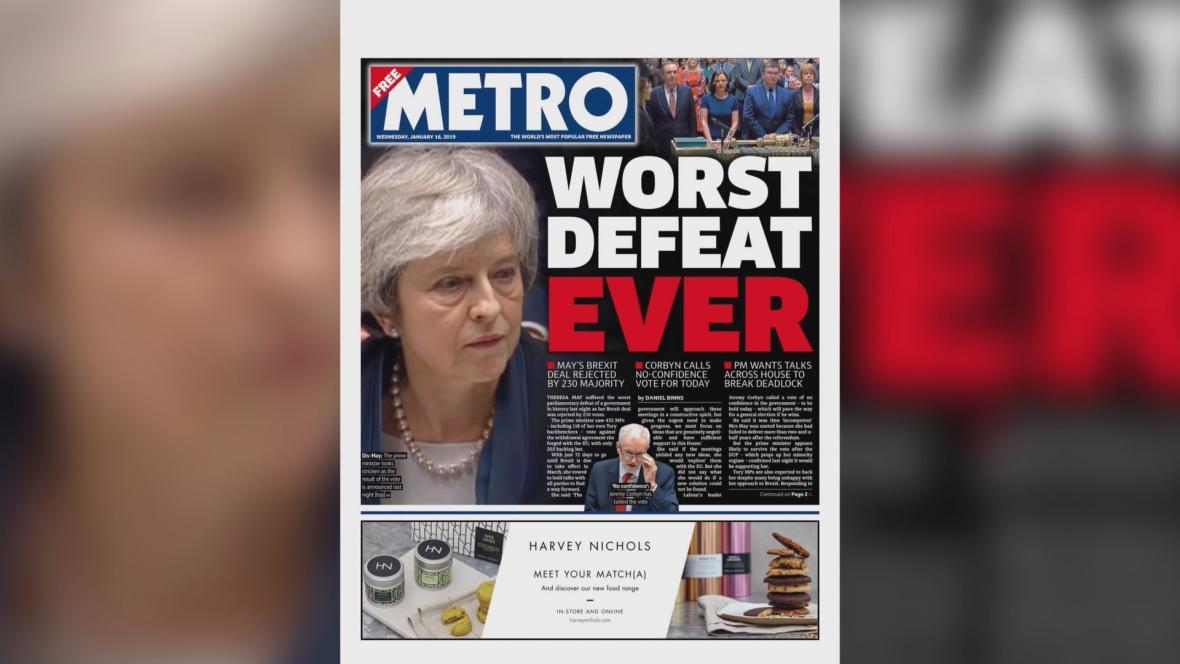 Metro: Nejhorší porážka vůbec