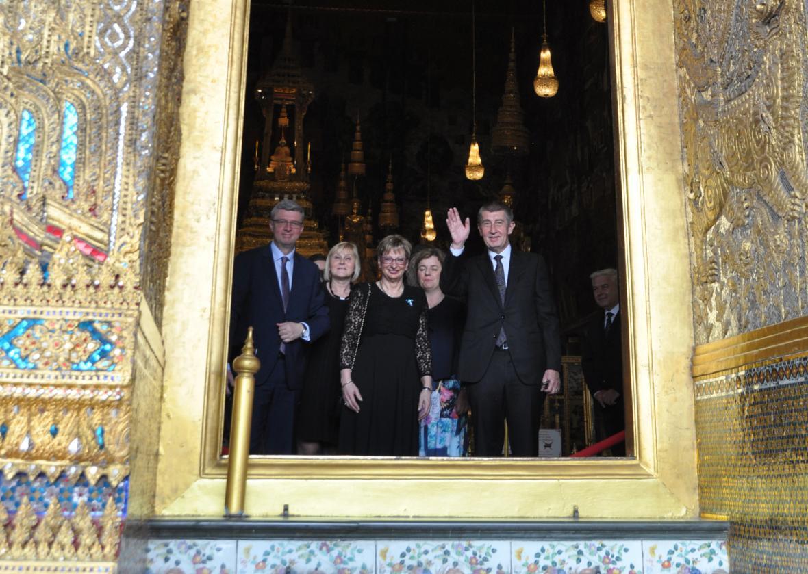 Premiér Andrej Babiš na návštěvě Thajska