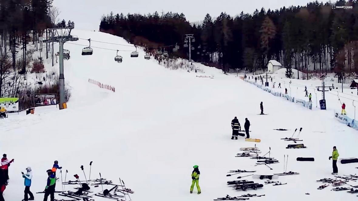 Skiareál Buková hora - záběr z webové kamery