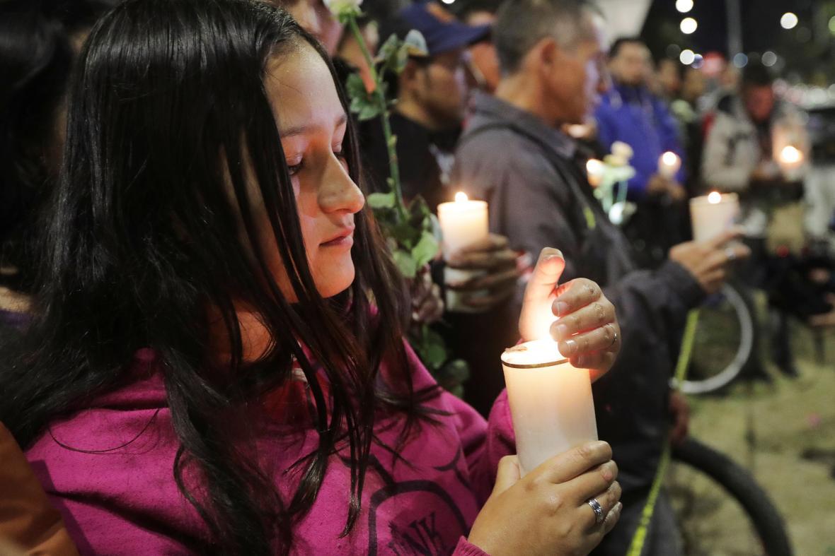Pieta za oběti útoku v Bogotě