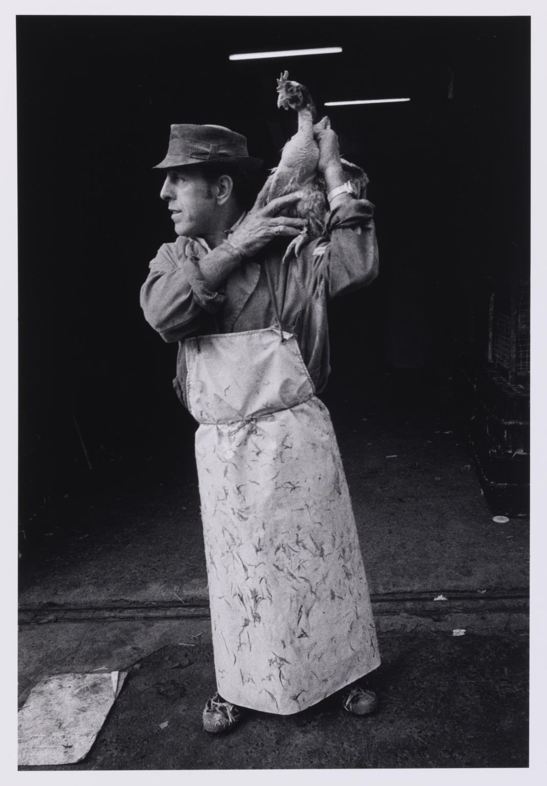 Muž s kuřetem, Leyden Street, Londýn, 1976