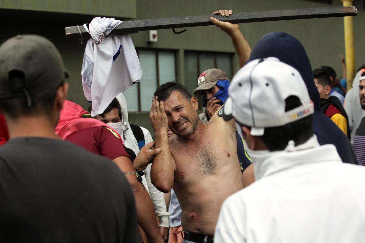 Zranění účastníci venezuelských demonstrací