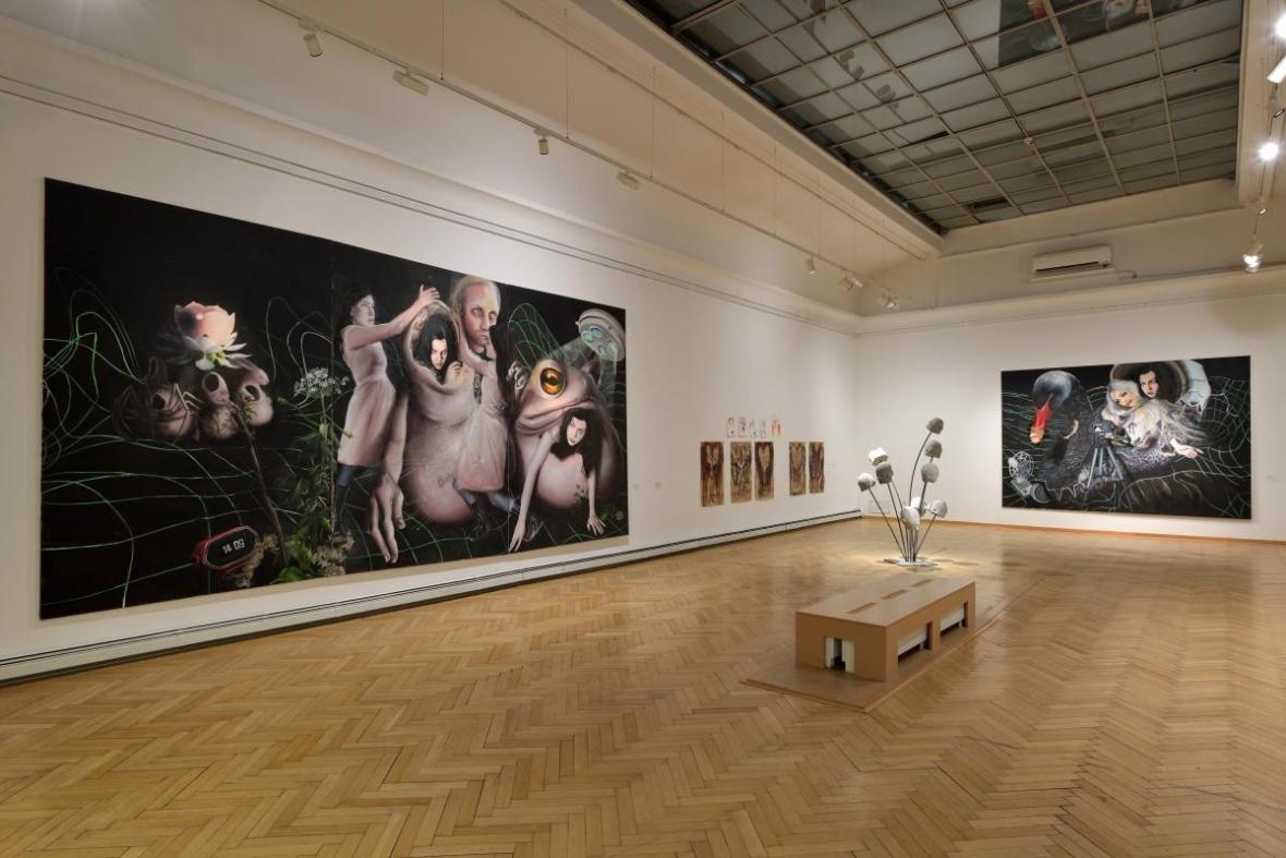 Z výstavy Deset: současné německé umění (GVUO)