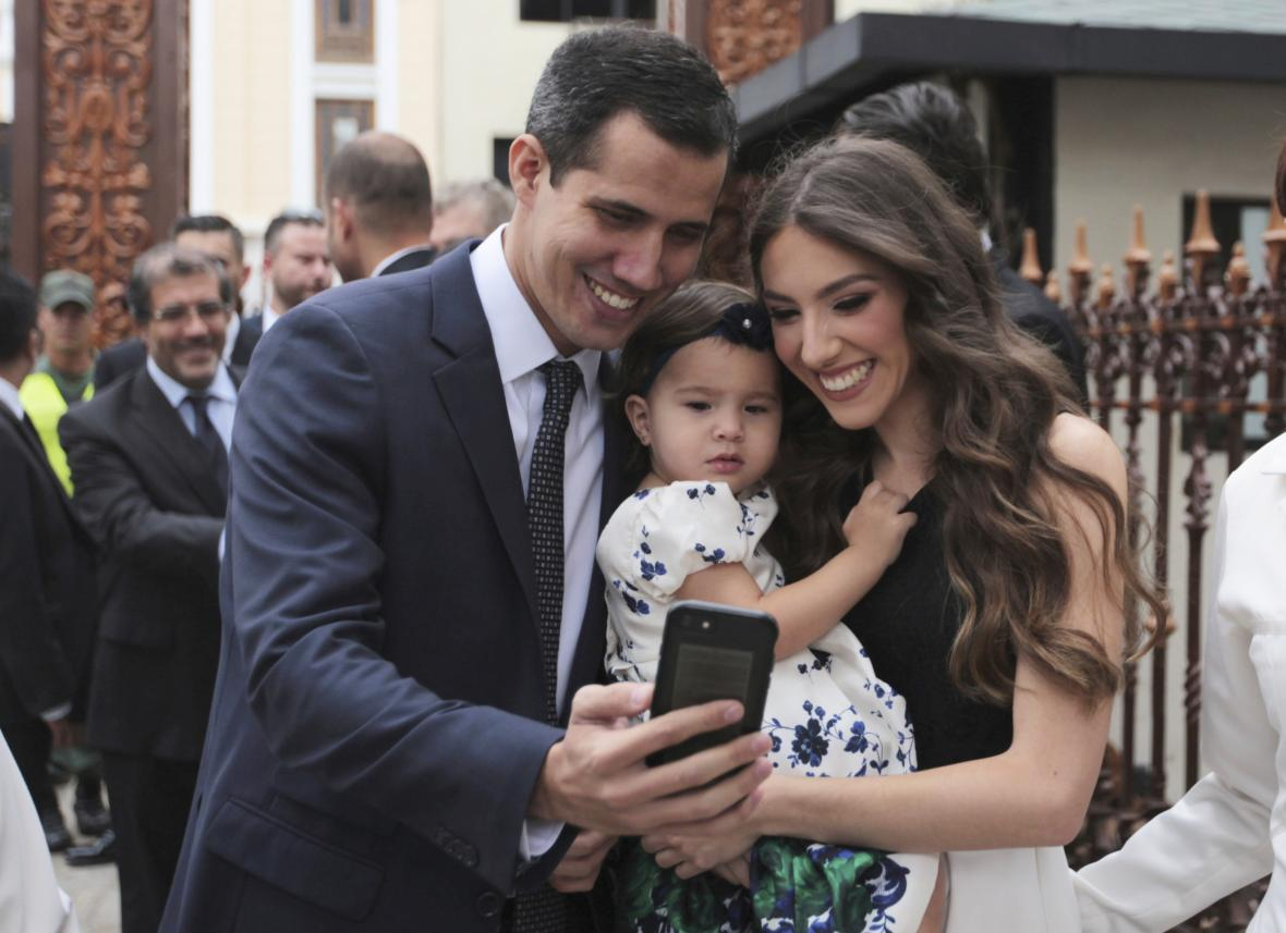 Juan Guaidó se svojí rodinou