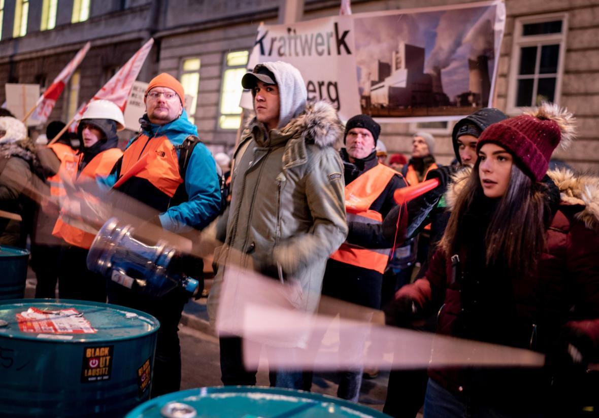 Protesty proti uhelné energii