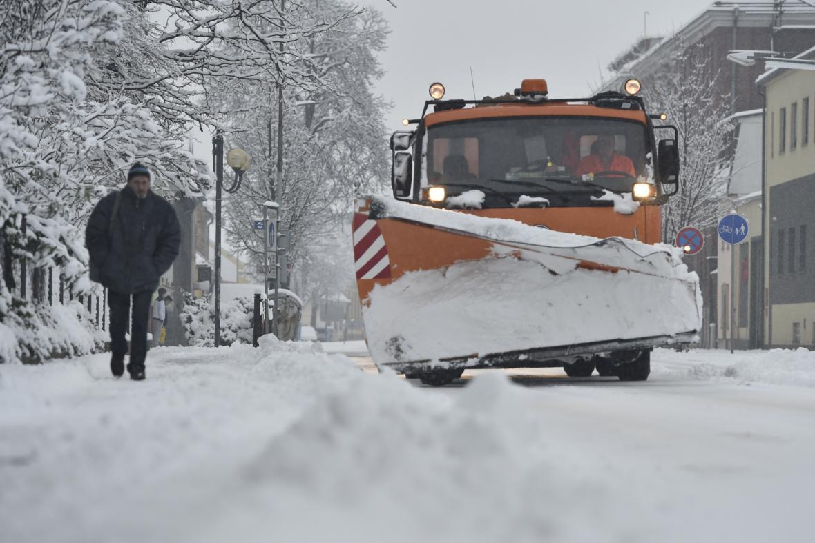 Zimní údržba v Břeclavi