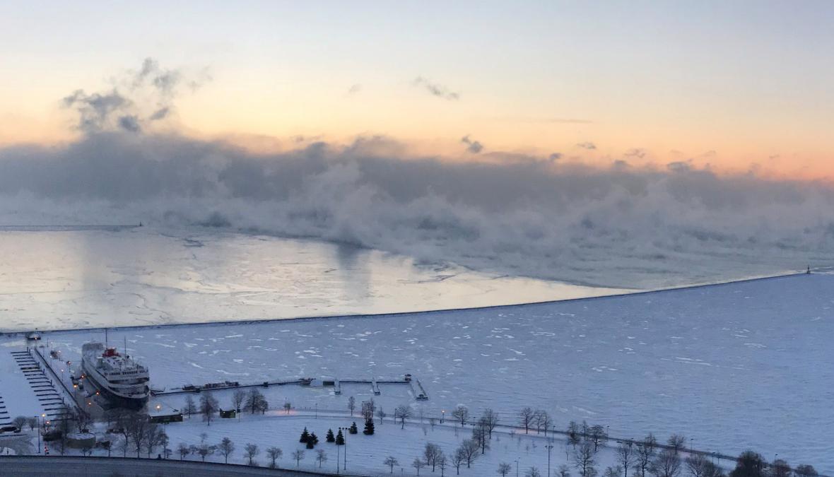 Mrazy u jezera Michigan