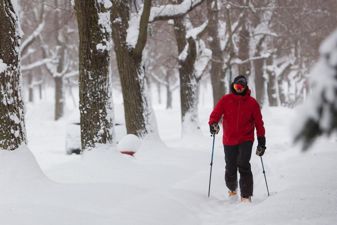 New York zasáhla sněhová bouře