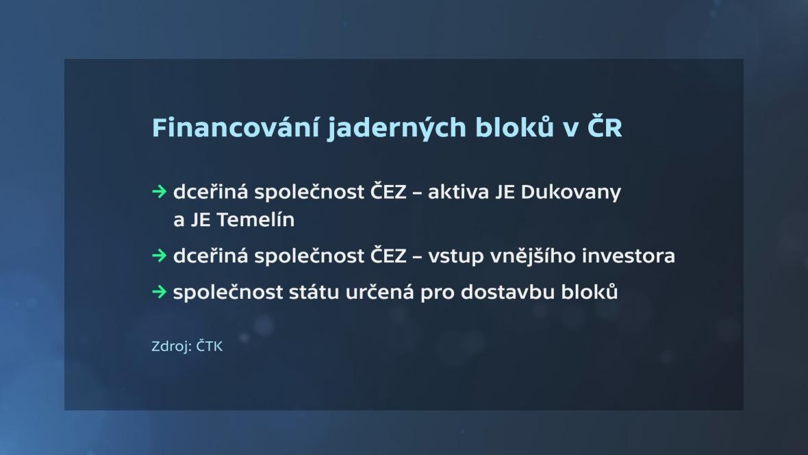 Financování dostavby JE