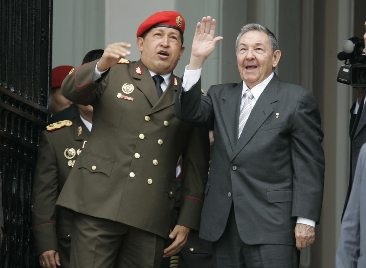 Exprezidenti Venezuely a Kuby - Hugo Chávez a Raúl Castro v roce 2010