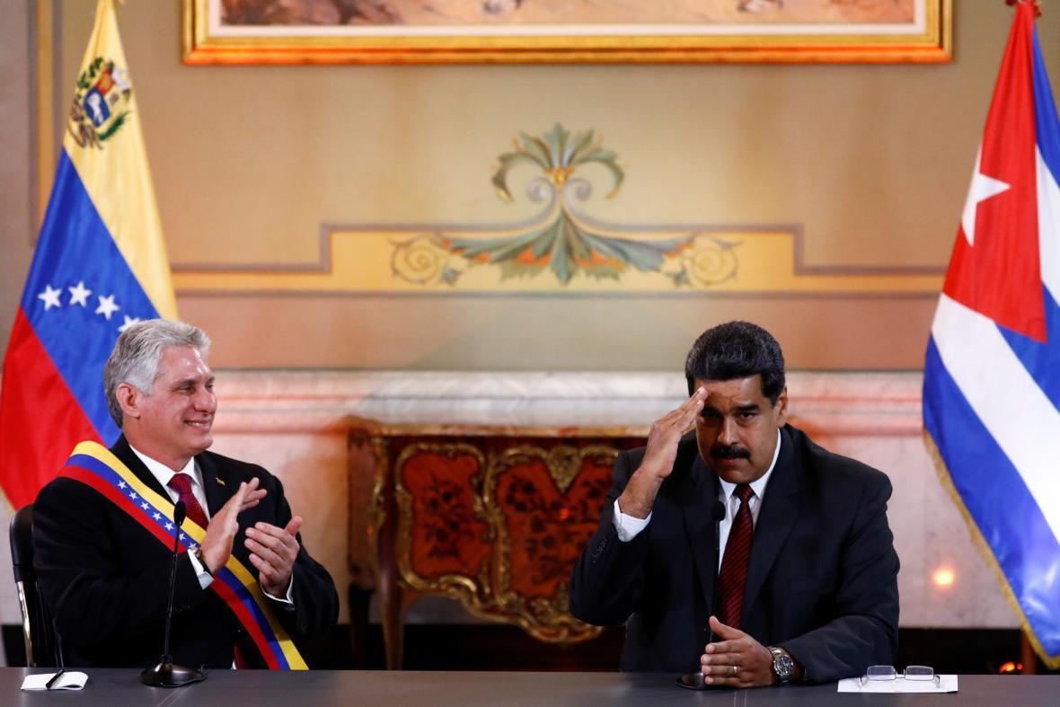 Současní prezidenti Kuby a Venezuely - Miguel Díaz-Canel a Nicolás Maduro