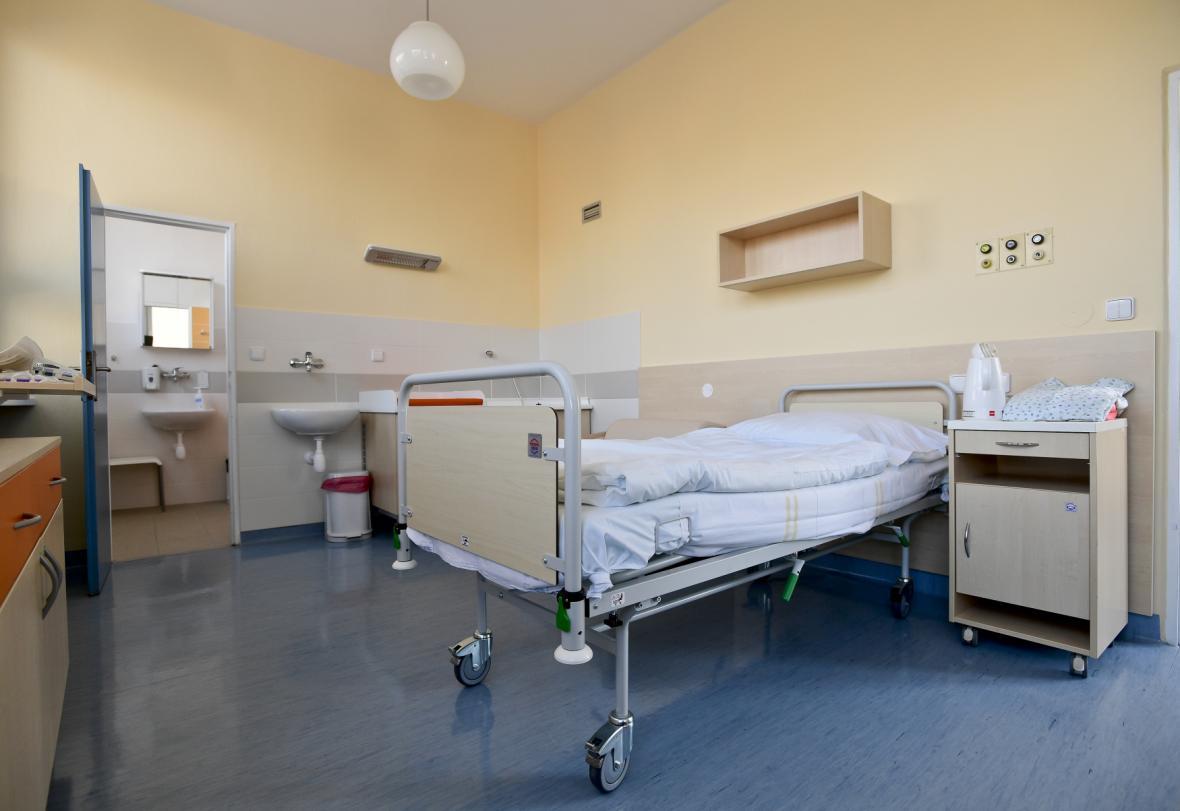 Pokoj centra porodní asistence na Bulovce