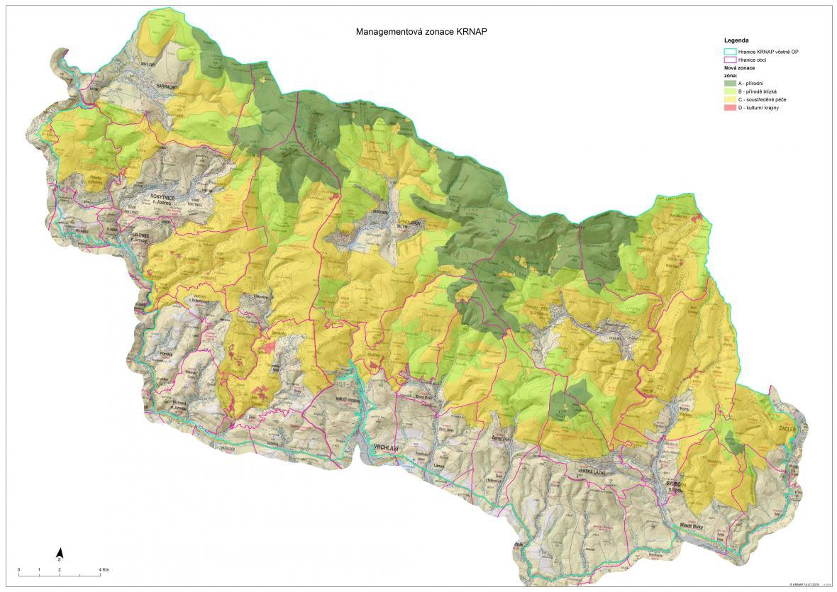 Návrh nového uspořádání Krkonošského národního parku