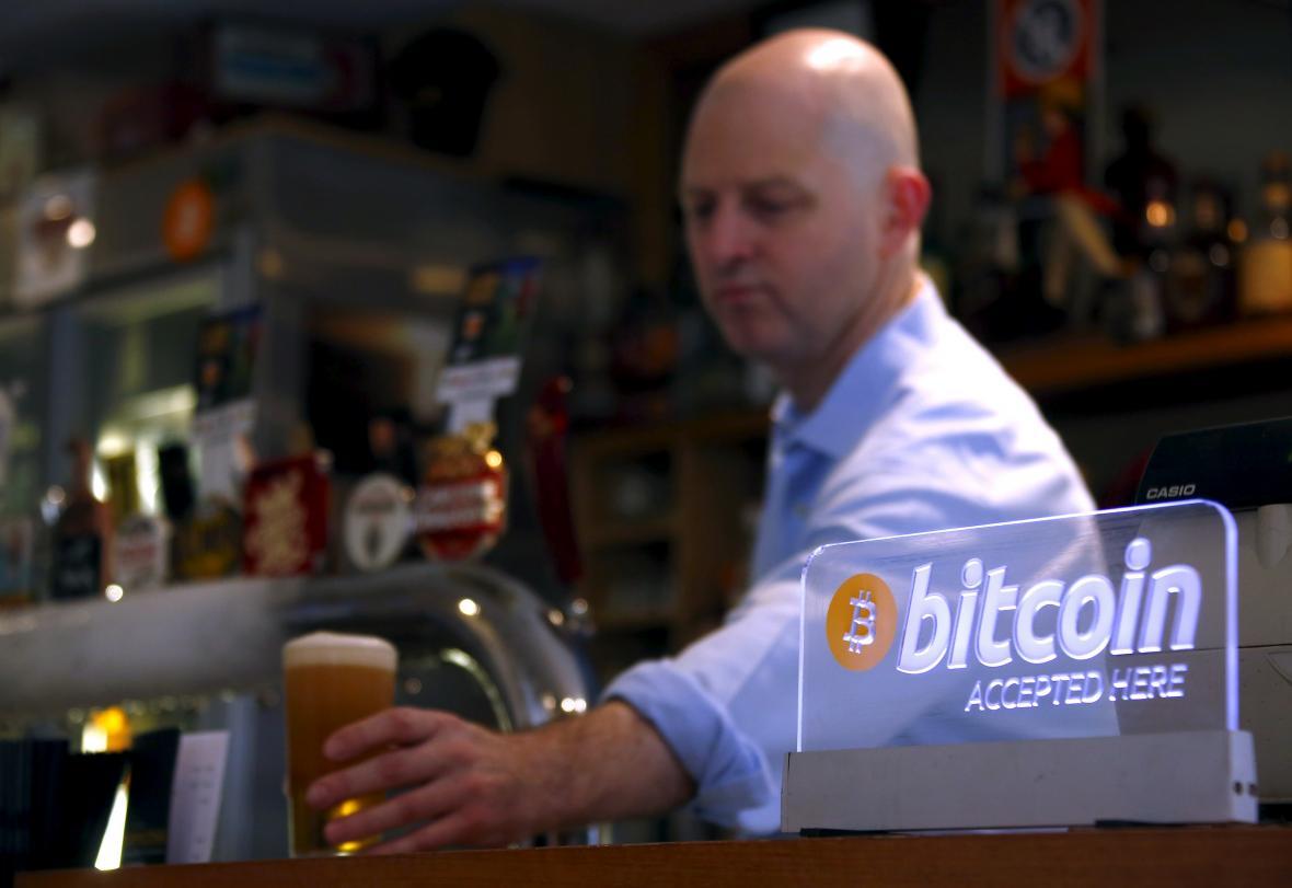 Pivo za bitcoiny