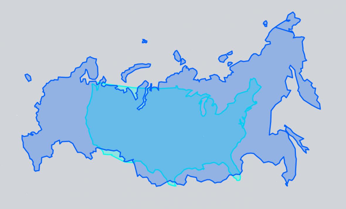 USA a Rusko ve stejném měřítku