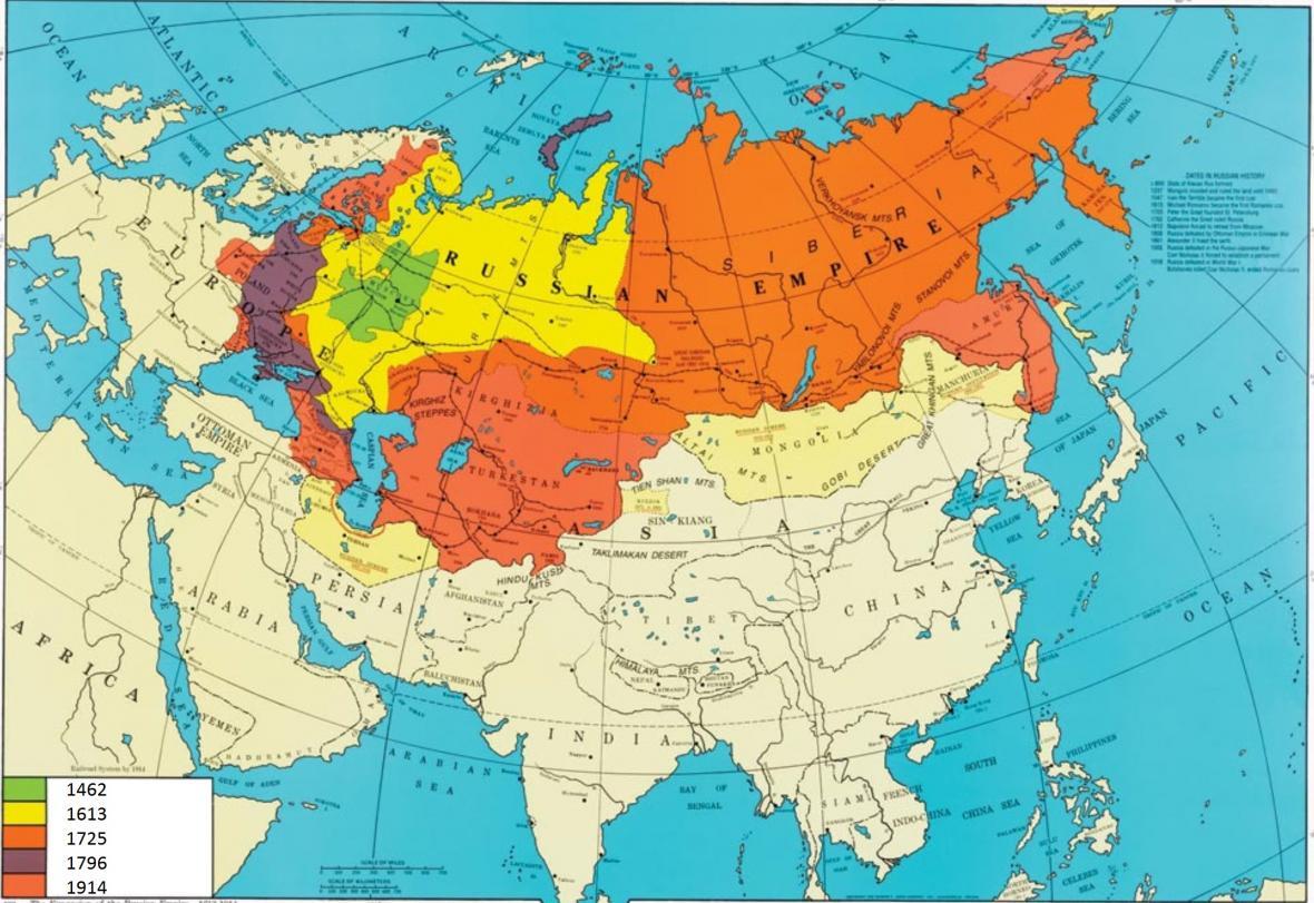 Územní rozvoj ruského státu v letech 1462 až 1917