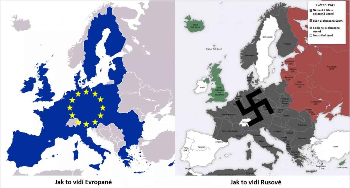 Srovnání územního rozsahu EU a nacistického Německa před útokem na SSSR