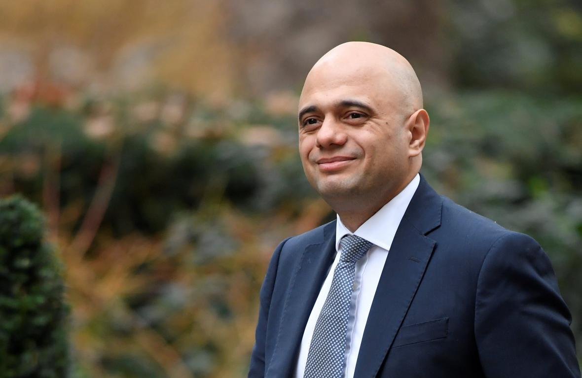 Britský ministr Sajid Javid