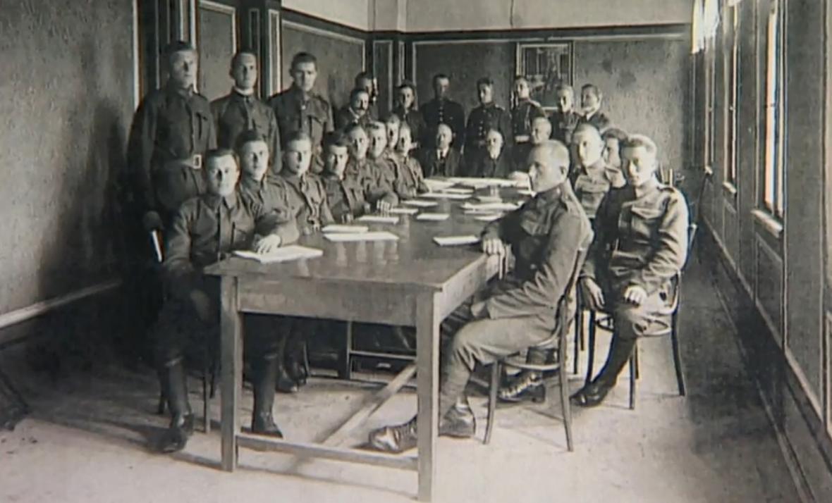 Posádka Czajánkových kasáren v roce 1939
