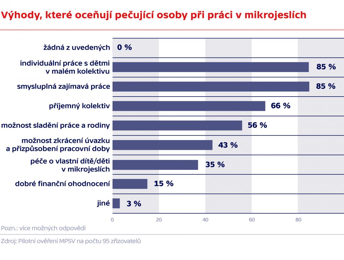 Výhody, které oceňují pečující osoby při práci v mikrojeslích