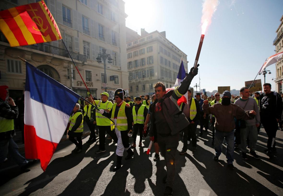Protesty v Marseille