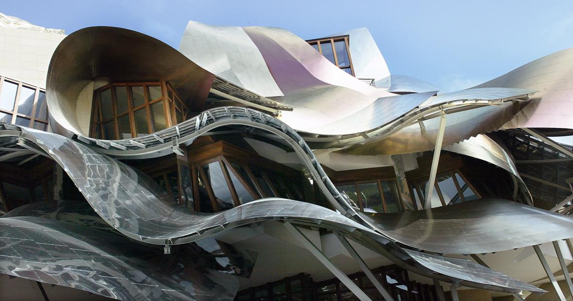 Hotel a vinárna City of Wine ve Španělském El Ciego