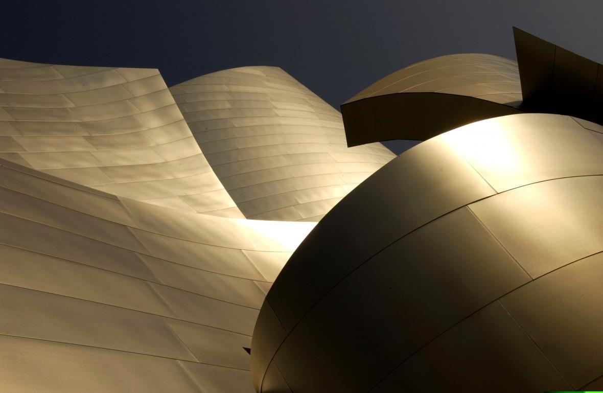 Detail koncertní haly v Los Angeles