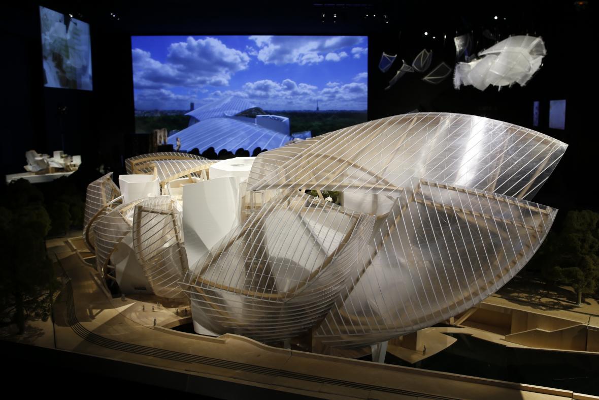 Model budovy nadace Louise Vuittona