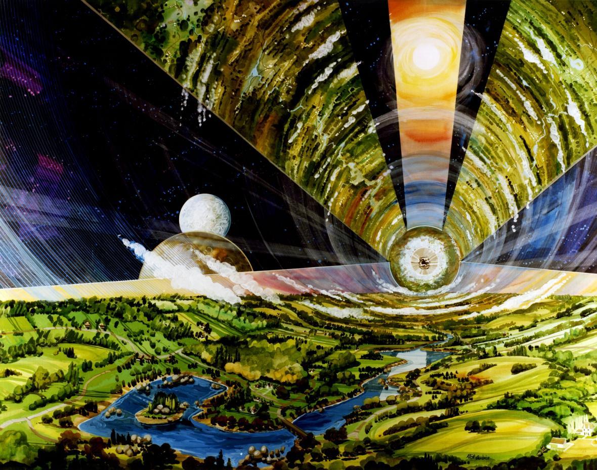 Vizualizace vesmírné kolonie