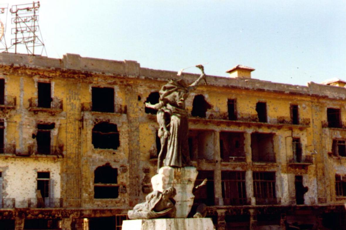 Náměstí Mučedníků v Bejrútu v roce 1982