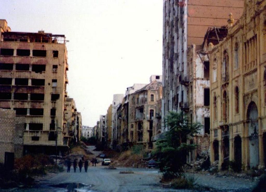 Zelená linie v Bejrútu v roce 1982