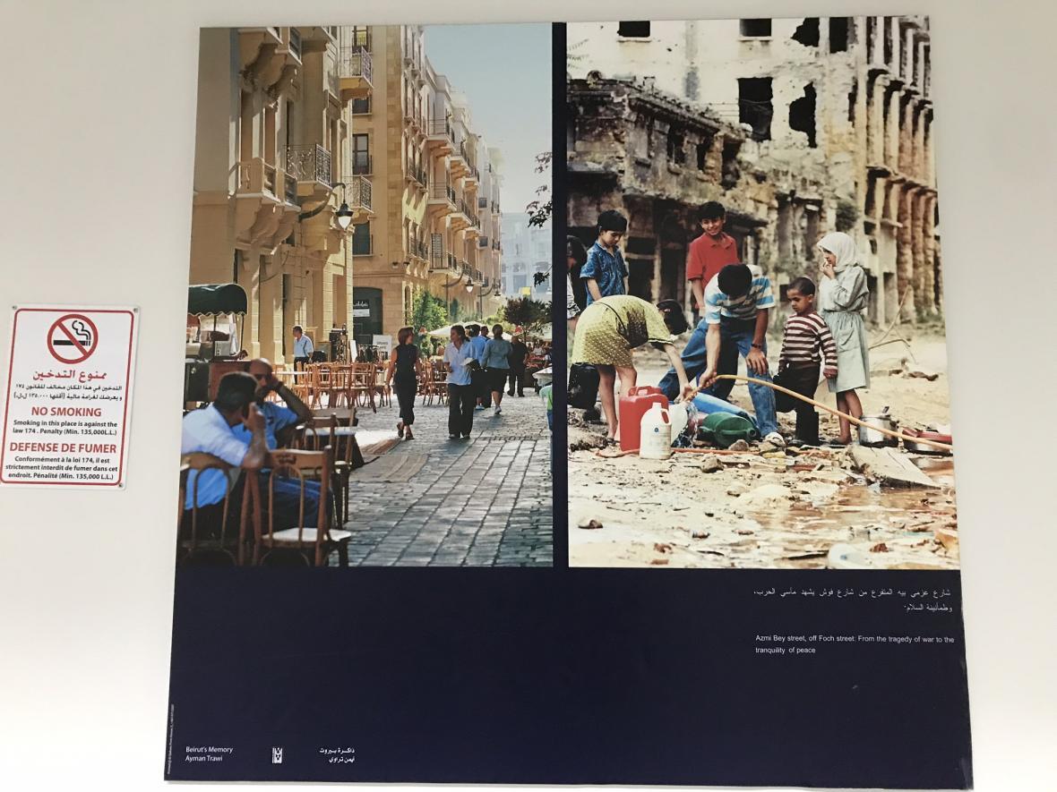 Obnovená ulice v Bejrútu