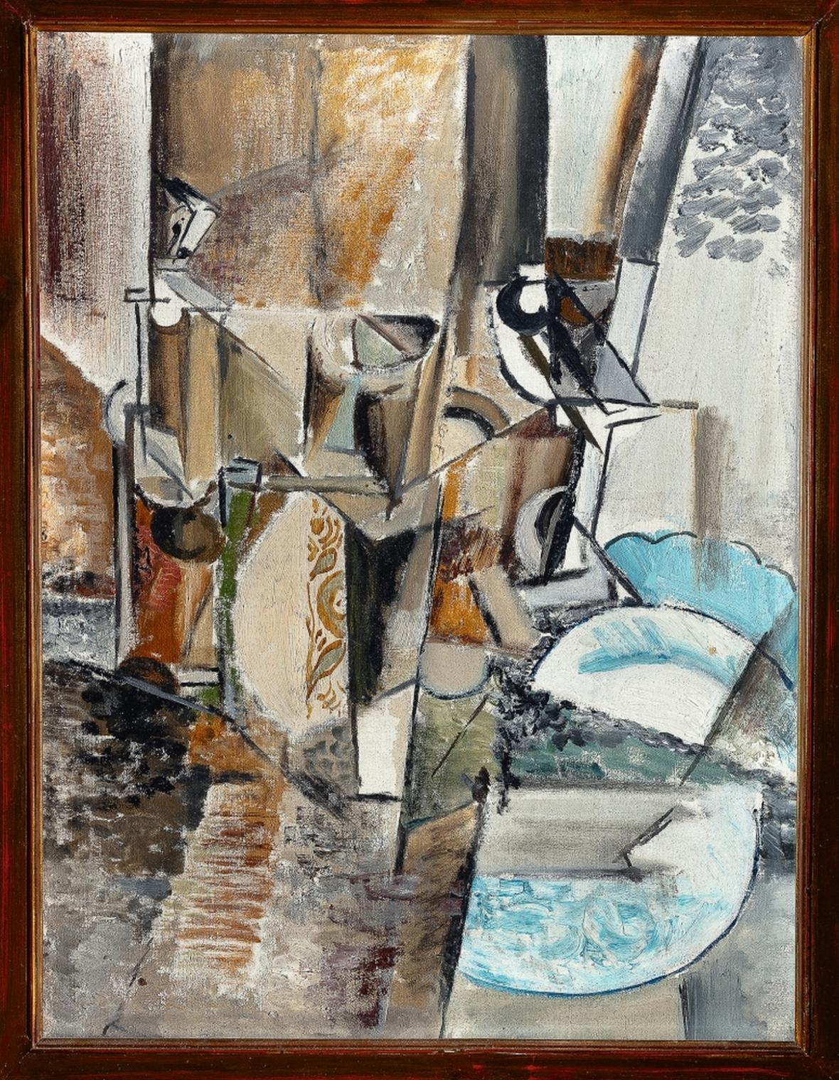 Emil Filla / Zátiší s malovaným džbánkem, 1913