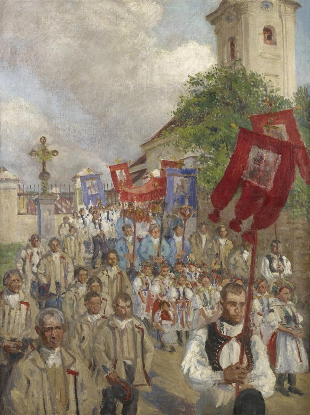 Miloš Jiránek / Boží tělo ve Velké, 1903